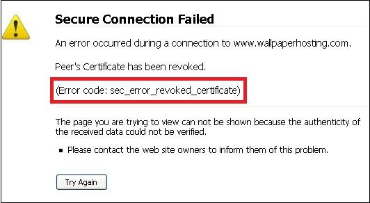 ошибка sec_error_revoked_certificate